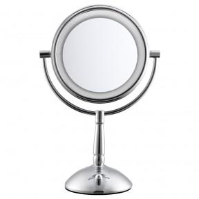 S837 胜鸿欧式8寸LED化妆镜 台式双面梳妆镜 反面5倍放大
